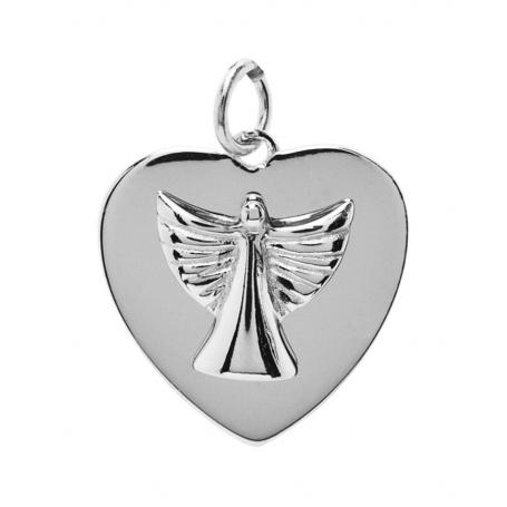 ANGELSVOICE Pendentif 925 ange de l'espoir coeur