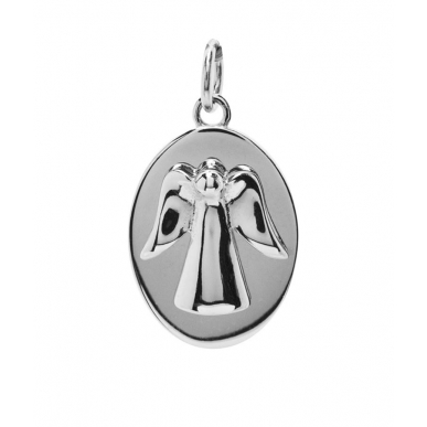 ANGELSVOICE Pendant 925 angel of happiness oval
