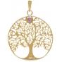 ANGELSVOICE Pendentif 925 arbre de vie doré jaune avec améthyste