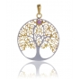 ANGELSVOICE Pendant 925 Tree of Life gold plated with amethyst
