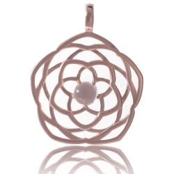 ANGELSVOICE Pendant 925 Venus' flower rose gold plated ø29mm