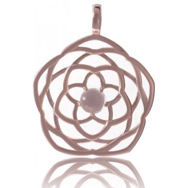 ANGELSVOICE Pendant 925 Venus' flower rose gold plated ø29mm