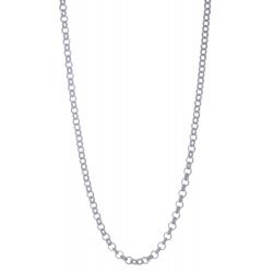 ANGELSVOICE Rolo chain silver 925 rhodium 42+3cm