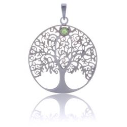 ANGELSVOICE Pendant 925 Tree of Life with peridot