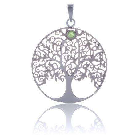 ANGELSVOICE Pendentif 925 arbre de vie avec péridot