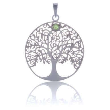 ANGELSVOICE Pendant 925 Tree of Life with peridot