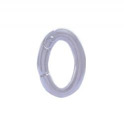ANGELSVOICE Clipöse oval mit Scharnier 925