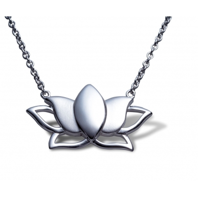 ANGELSVOICE Necklace Silver 925 Lotus flower