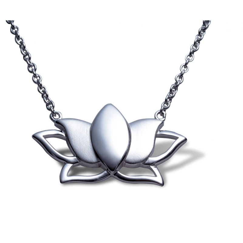 Necklace silver lotus flower angelsvoice necklace silver 925 lotus flower izmirmasajfo