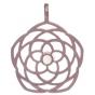 ANGELSVOICE Pendentif 925 fleur de vénus dorée rose ø29mm