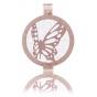 My iMenso Médaillon réversible en argent 925 doré rose éléments décoratifs/pierre naturelle