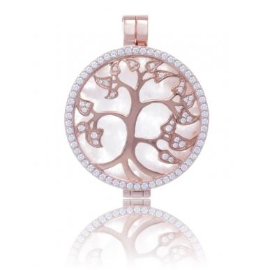My iMenso Medaillon beidseitig Silber 925 rosé vergoldet Decorative elements/Muschelschale
