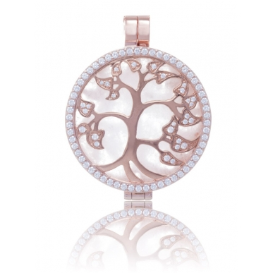 My iMenso Reversible Medallion silver 925 pink gold plated decorative elements/water shell