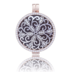 My iMenso Medaillon beidseitig Silber 925 rosé vergoldet Fantaisie-Element/Naturstein