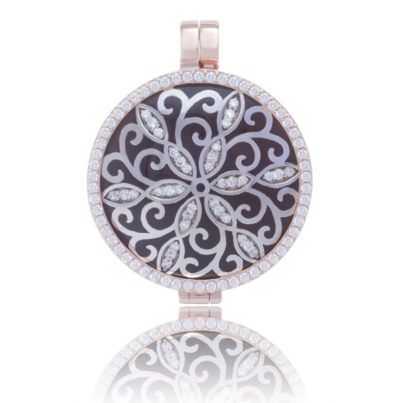 My iMenso Reversible Medallion silver 925 rose gold plated fantasy element/natural stone