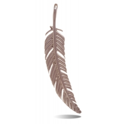 TRAUMFÄNGER Steel Pendant Feather rose gold plated