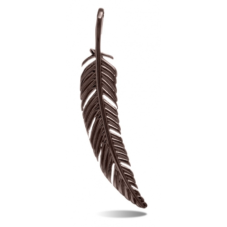 TRAUMFÄNGER Steel Pendant Brown Feather