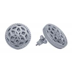 TRAUMFÄNGER Steel Earings Dreamcatcher floral motif
