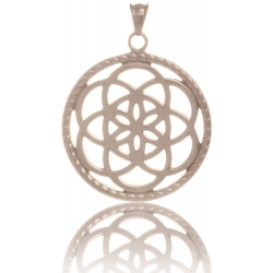 TRAUMFÄNGER Steel Pendant Rose Gold Plated Dreamcatcher with floral motif