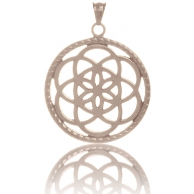 TRAUMFÄNGER Pendentif Attrape-rêves en acier doré rose motif fleur