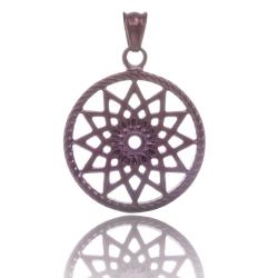 TRAUMFÄNGER Pendentif Attrape-rêves en acier brun motif étoile