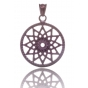 TRAUMFÄNGER Steel Pendant Brown Dreamcatcher with star motif