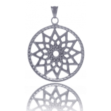 TRAUMFÄNGER Steel Pendant Dreamcatcher with floral star