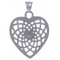 TRAUMFÄNGER Steel Pendant heart-shaped Dreamcatcher