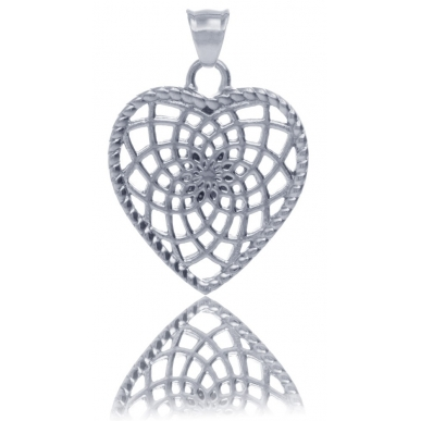 TRAUMFÄNGER Steel Pendant heart-shaped Dreamcatcher