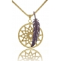 TRAUMFÄNGER Steel Pendant Yellow Gold Plated Dreamcatcher with star motif