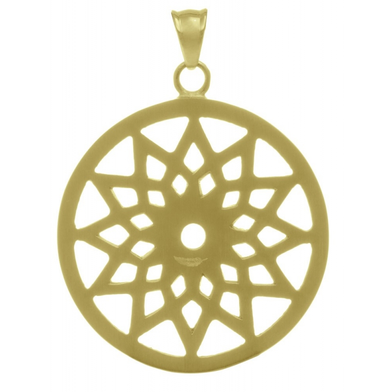 Steel pendant yellow gold plated dreamcatcher with star motif traumfnger steel pendant yellow gold plated dreamcatcher with star motif aloadofball Choice Image