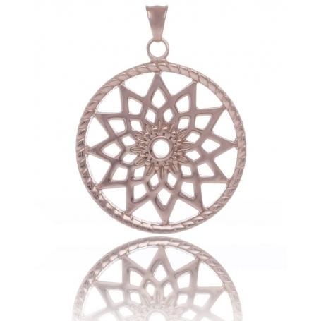 TRAUMFÄNGER Pendentif Attrape-rêves en acier doré rose motif étoile