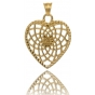 TRAUMFÄNGER Steel Pendant Yellow Gold Plated  heart-shaped Dreamcatcher