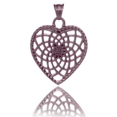 TRAUMFÄNGER Steel Pendant Rose Brown Heart-Shaped Dreamcatcher