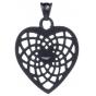 TRAUMFÄNGER Steel Pendant Black Heart-Shaped Dreamcatcher