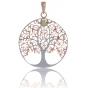 ANGELSVOICE Pendentif 925 arbre de vie doré rose avec péridot