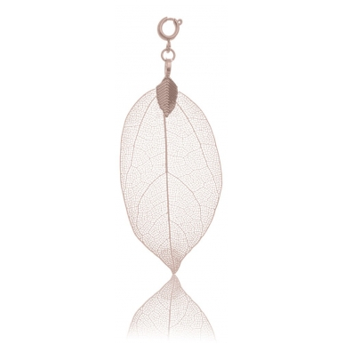 BLUMENKIND Stainless Steel Rose Gold Plated Pendant Leaf