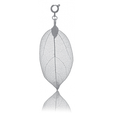 BLUMENKIND Stainless Steel Dark Grey Pendant Leaf