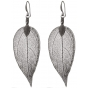 BLUMENKIND Stainless Steel Dark Grey Earings Leaf