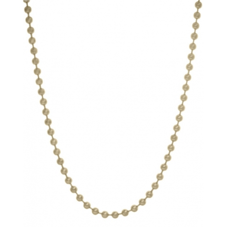Blumenkind Steel Yellow gold plated Ball Chain