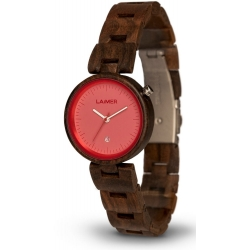 LAiMER Wood Watch NICKY PINK