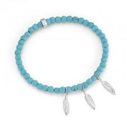 Giorgio Martello Flexible Bracelet with  Feathers