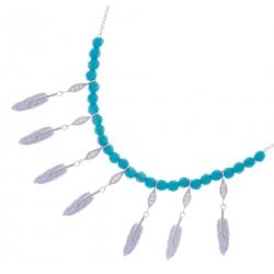 Giorgio Martello Silver Necklace with Feathers