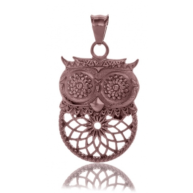 TRAUMFÄNGER Steel Pendant Brown Dreamcatcher Owl