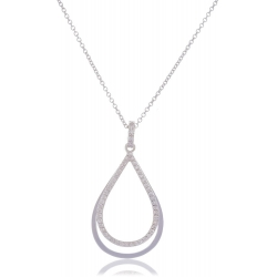 Giorgio Martello Drop-Shaped Silver Necklace