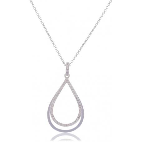 Giorgio Martello Drop-Shaped Silver Necklace