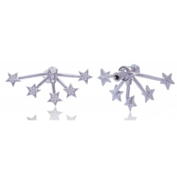 Giorgio Martello Stars Silver Earrings