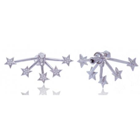 Giorgio Martello Boucles d'oreilles étoiles en argent 925
