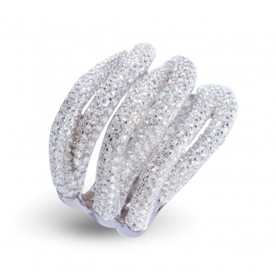 Giorgio Martello Interlaced Silver Ring