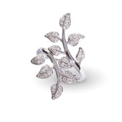 Giorgio Martello Ring Blätter in Silber 925